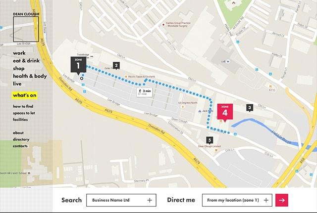 Dean Clough map